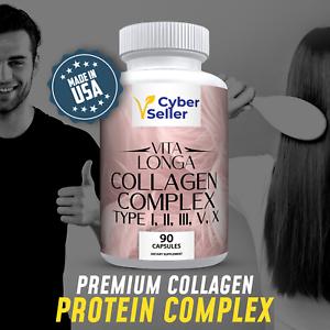 COLLAGEN Complex -Type I,II,III,V & X-Collagen Supplements with Vital Protein