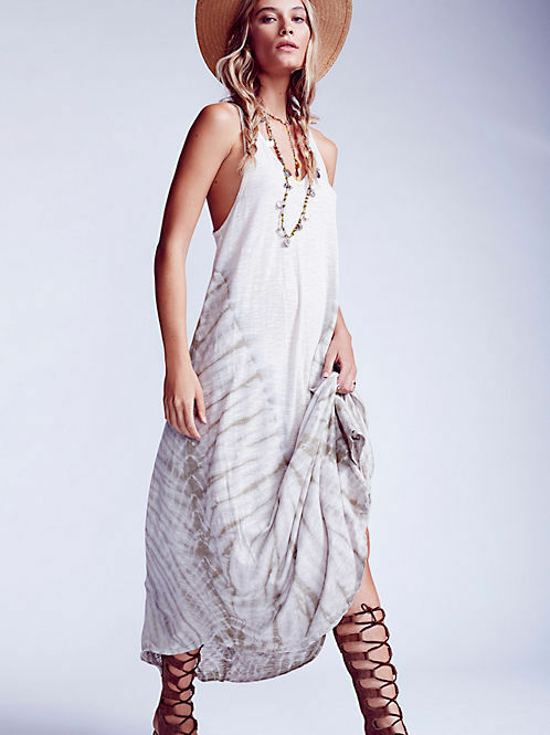 New 'We the Free People HAILSTORM Maxi Dress  Tie Dye size Large - Sold Out