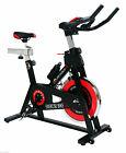Fit-Force FF24KG Bicicleta Estática con Volante - Rojo/Negro