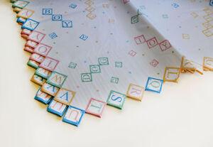 Die Cut Printed Tissue Paper - Baby Blocks Print