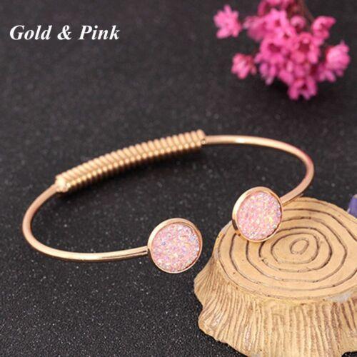 Gifts Sweet Shiny Sequin Fashion Jewelry Cuff Bangle Adjustable Bracelet