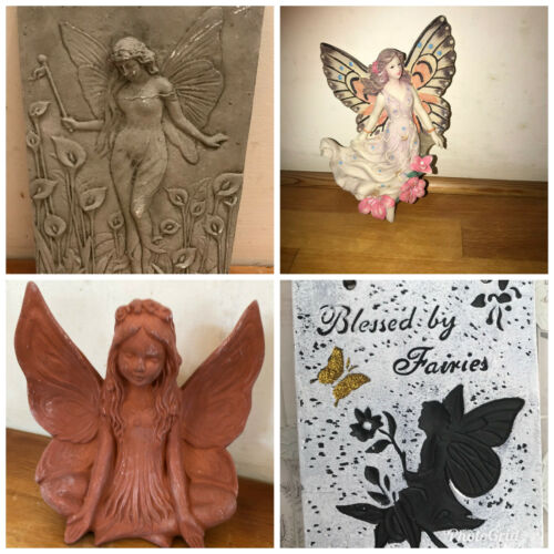 4 X latex moulds for making This collection of fairy themed items