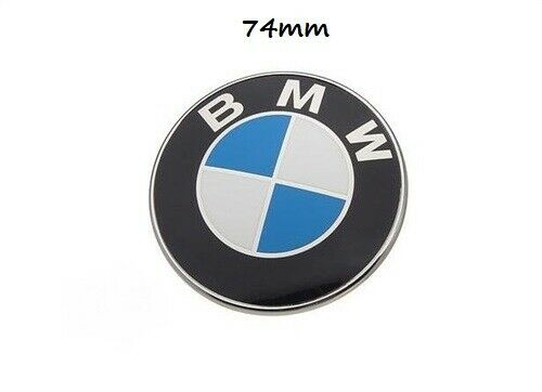 BMW Emblem 74mm Rear Trunk Badge Roundel E46 E90 E91 E81 E82 51148132375
