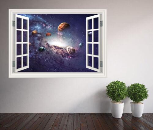 50430104ww Stunning universe solar system stars space window wall sticker