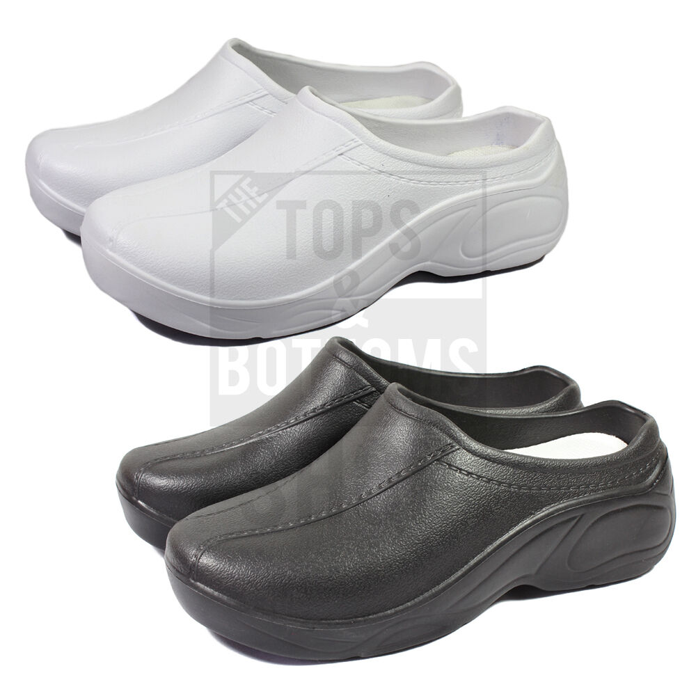 60f1e8097a528 Details about Medical Womens Nursing Ultralite Non-Slip Strapless Clogs  Light Shoes - 9501