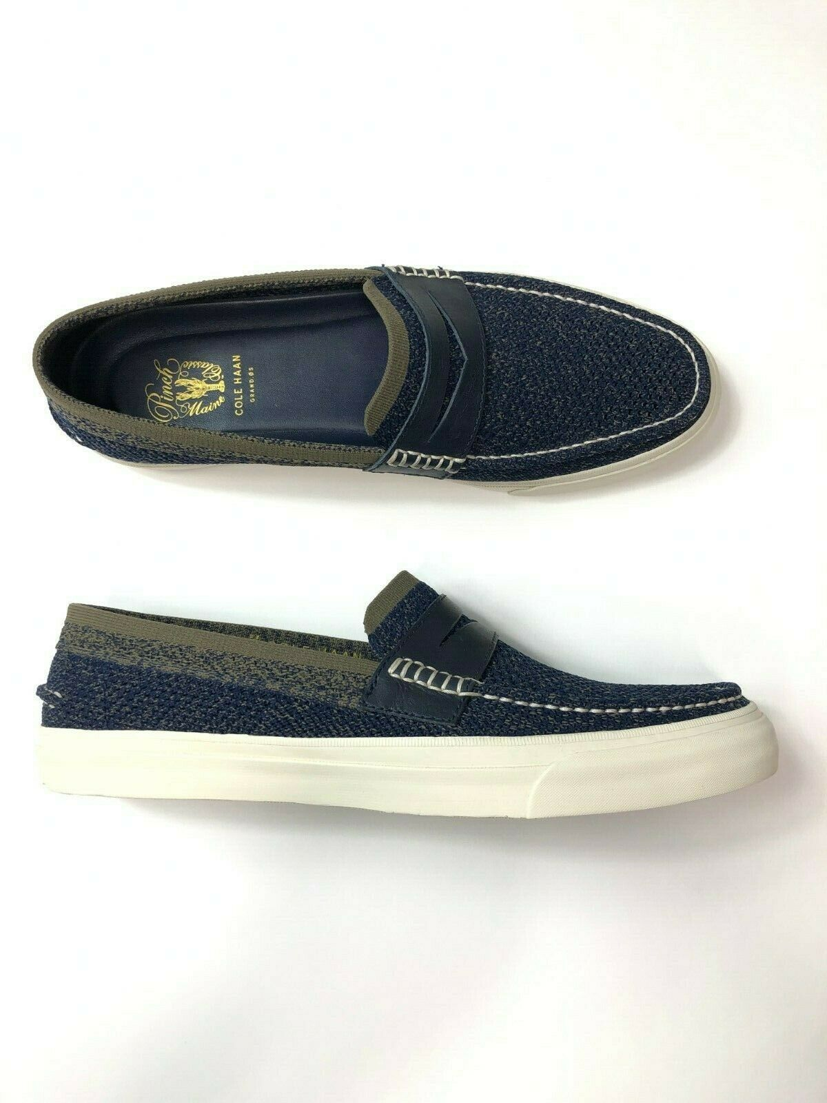 Cole Haan Pinch Weekends LX Stitchlite Loafer Navy Morel C28008 Mens Size 11.5