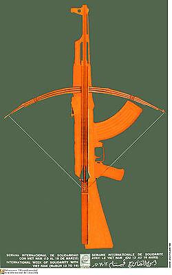 Political Cuban POSTER.Solidarity with Vietnam.art.as28.Revolution Art Design