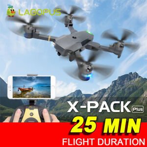 Foldable 25 Mins Drone Flight Quadcopter With 5MP WIFI 1080P HD Camera UK STOCK