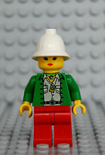 Lego Minifig Adventurers Miss Gail Storm 5986 5987 Female Girl as Shown