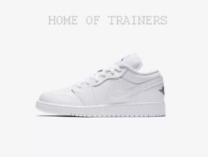 Noires Filles Air Nike Blanc 1 Baskets Garçons Enfants Basses Jordan Blanches nzdqS1pwYd