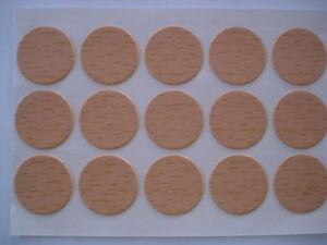 Set-di-1000-cache-viti-adesivi-colori-faggio-diametro-13mm