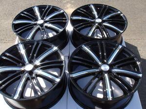 17-5x108-Black-Wheels-Ford-Focus-Taurus-Titanium-Volvo-Jaguar-S40-S60-5-Lug-Rims