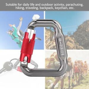 28KN-Carabiner-D-Ring-Camp-Clip-Hook-Buckle-Keychain-Keyring-Hiking-Climbing
