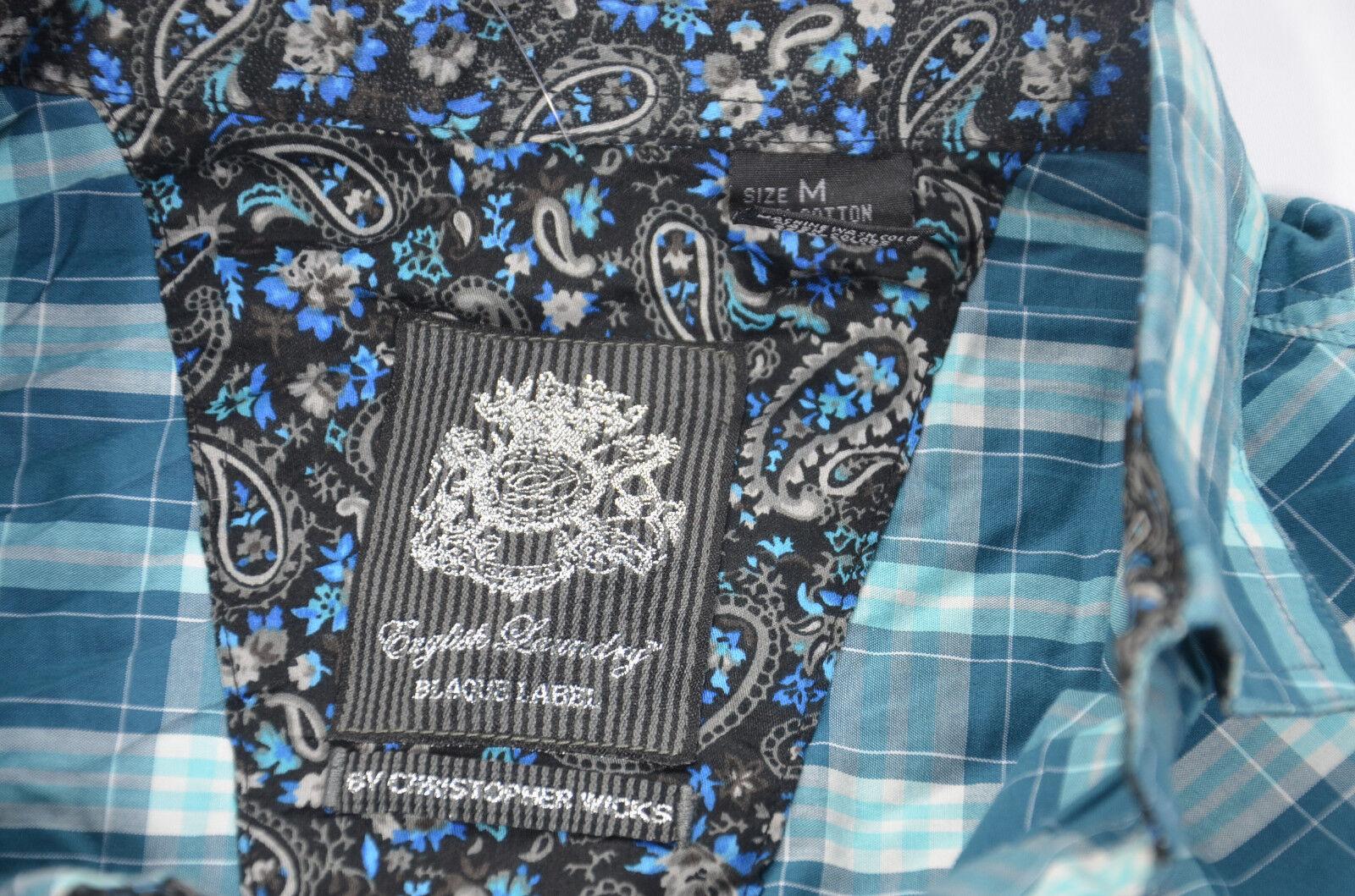 English Laundry classique Chemise Homme blaque Label classique Laundry élégant bleu moyen NOUVEAU Neuf avec étiquettes #074 025241
