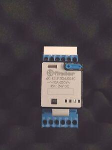 FINDER 60.13.9.024.0040 Relay10A + 90.03 Base + 99.02.3.000.00 Diode Module 24V