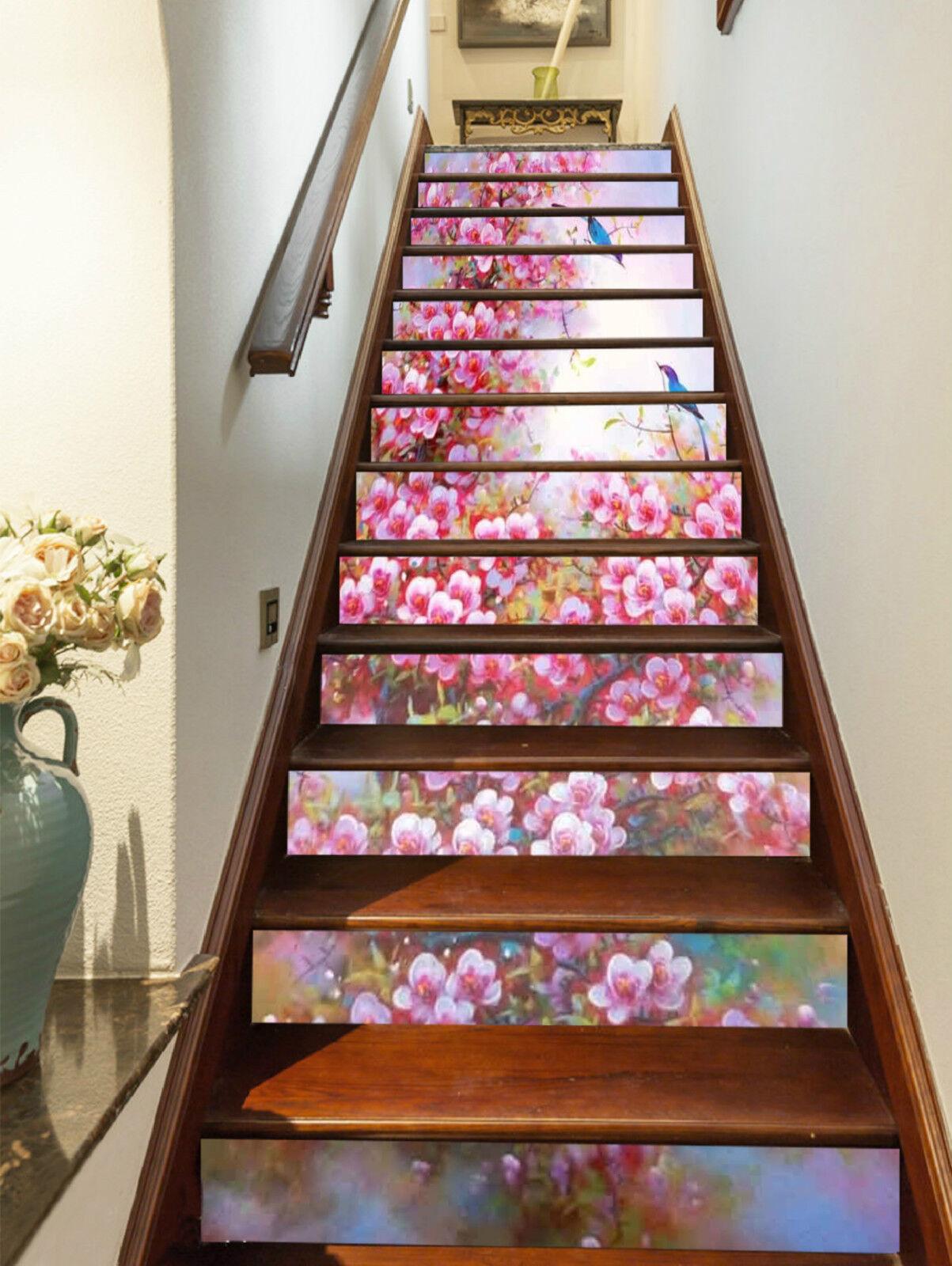 3D Bäume Blume 208 Stair Risers Dekoration Fototapete Vinyl Aufkleber Tapete DE