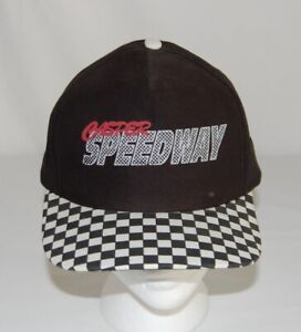 Details about Vintage 1990s CASPER SPEEDWAY RACING CHECKERED FLAG SNAPBACK  HAT CAP WYOMING