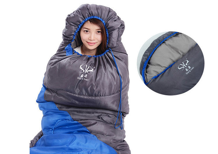 Light Weight Hollow Hollow Hollow Cotton Camping Hiking Outdoor Envelope Sacco a pelo With Cap 1f9590