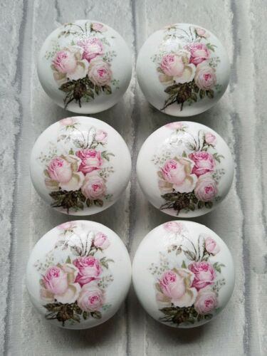 Shabby Chic Roses Amore Tiroir Boutons 46 mm