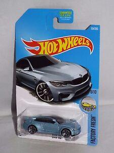 Hot-Wheels-2017-Factory-Fresh-Series-154-BMW-M4-Light-Blue