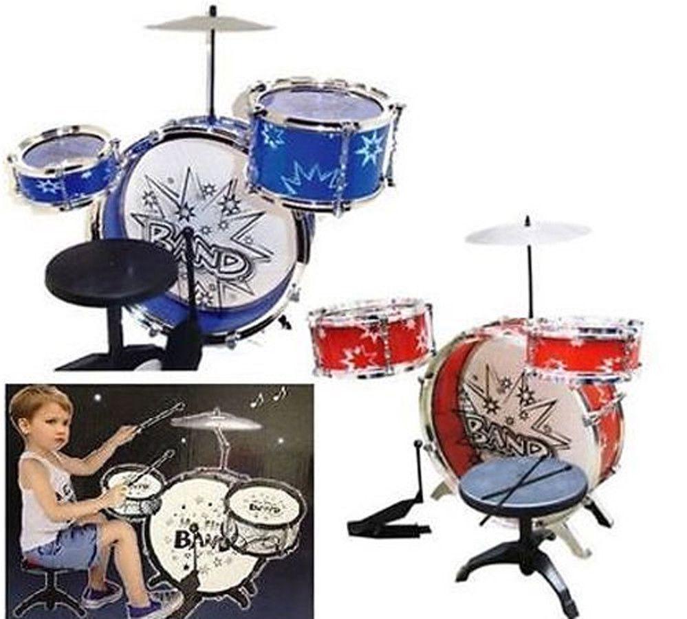 Bambini Primo JAZZ Drum set Sgabello con giocattolo musicale