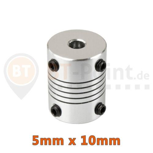 Acoplamiento de onda 5x10mm aluminio RepRap cnc Prusa i3 3d impresora 5mm Shaft coupler