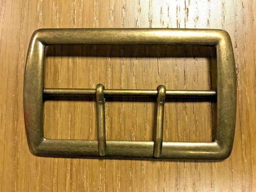 Vintage Hebilla de cinturón de Latón de Metal Grande 80mm con 2 Puntas-Correas uniformes