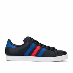 Hommes-Adidas-Originals-Coast-STAR-a-Lacets-Tennis-Style-Baskets-En-Noir