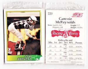 RARE-1993-JOCKEY-HORSE-STAR-6-CARD-PROMO-SET-GARY-STEVENS-SCOTT-STEVENS