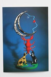 "NIKI DE SAINT PHALLE: ""La Lune"", 1985, Kunst-Postkarte / auch mit Rahmen"