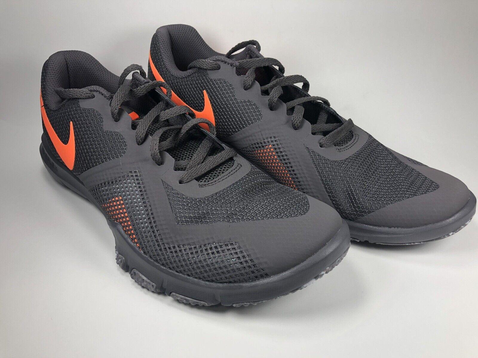 NIKE FLEX CONTROL II GREY  orange 924204 080 RUNNING SHOES Size 10