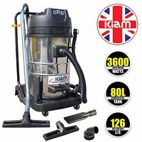 Carwash Vacuum Cleaner 3 Motor / Triple Motor 3600w Hoover - Kiam Kv80-3 80l
