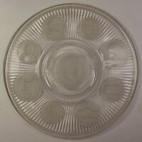 Decorative Glass Plate with American Decimal Coinage Designs