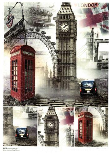 21X29,7cm A4.RICE PAPER LONDON ENGLAND PAPIER DE RIZ LONDRES ANGLETERRE VINTAGE