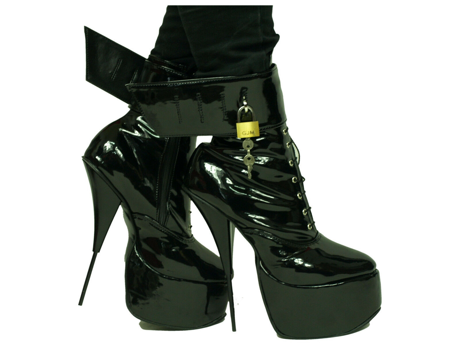 Promociones De Látex Goma Tacones Altos botas   - 20cm producen Polonia