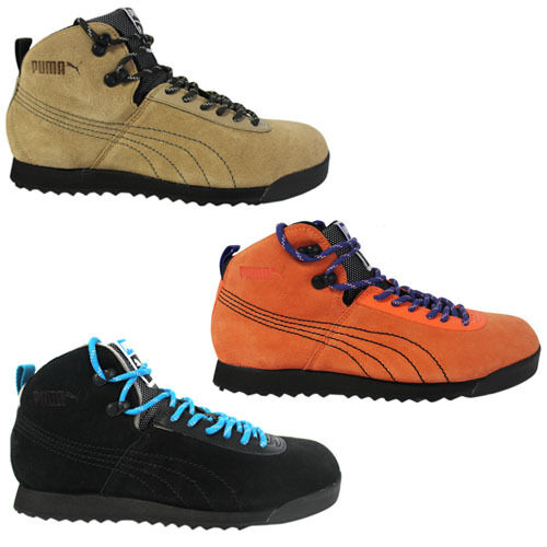 look for popular stores shop for original Puma Roma Hiker Mens Trainers Hiking Boots Lace Up Leather Suede 353795 02  04 05