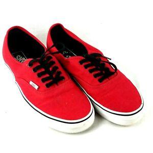 red vans chaussures ebay