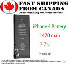 New Replacement Internal Battery For Apple iPhone 4G 1420mAh 3.7V Li-ion Black