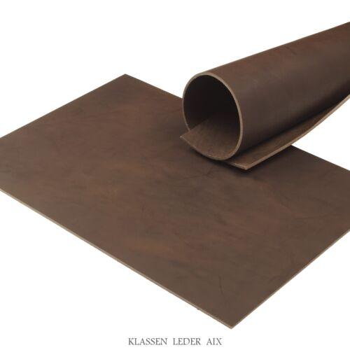 Vegetabil Rindsleder Cacao Pull-Up 3,5 mm Dick A5 Format Echt Leder 88