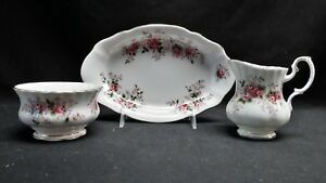 Royal-Albert-England-Bone-China-Lavender-Rose-Mini-Creamer-Sugar-Bowl-amp-Tray