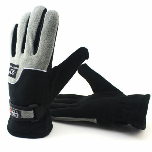 1Pair Men Women/'s Winter Warm Fleece Lined Thermal Gloves Hiking Walking Jogging