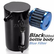 0.5L Black Aluminum Car Oil Catch Tank Can Reservoir Breather Filter Universal