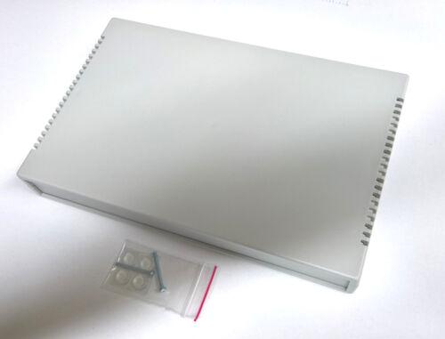 Halbschalen Kunststoffgehäuse 370x237x52mm in Lichtgrau Universalgehäuse