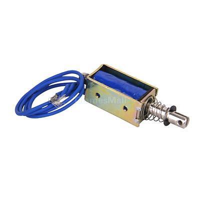 DC 12V Push-Pull Open Frame Solenoid Electromagnet Electric Magnet Holding 0.4N