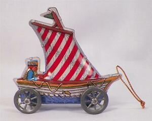 Sailing-Sailing-Tin-Hallmark-Ornament-Christmas-1988-in-OB-QX491-1-NICE-COND