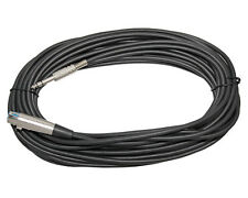 50 FT Foot XLR 3 Pin Female to 1/4 TRS Stereo Microphone Mic Shielded Cable Cord