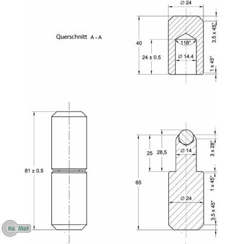 Anschweißbandrollen torband anschweissband 81 MM ø 24 à balles