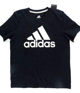 NEW-Adidas-Girls-039-Cotton-Logo-Tee-Black-Size-S-8