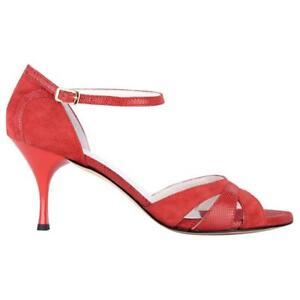 Scarpe da Tango Argentino Bandolera A3 camoscio rosso TACCO 9 CM