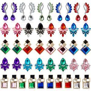 Crystal-Rhinestone-Waterdrop-Drop-Dangle-Stud-Earrings-Women-Wedding-Jewelry